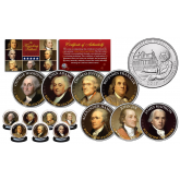 THE FOUNDING FATHERS of The United States 2017 FREDERICK DOUGLASS Washington DC Parks Quarters 7-Coin Set