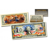 July 4th Independence Day *2-Sided* Offical Genuine Legal Tender $2 U.S. Bill
