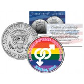 GAY PRIDE Marriage Equality Colorized 2015 JFK Half Dollar U.S. Coin Wedding Supreme Court Ruling 6/26/2015