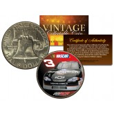 DALE EARNHARDT -  #3 NASCAR  - Colorized 1951 Franklin Half Silver Dollar U.S. Coin - Officially Licensed