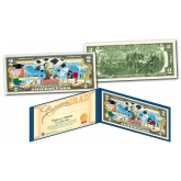 HAPPY GRADUATION - CLASS OF 2017 Genuine Legal Tender U.S. $2 Bill with Diploma Style Certificate of Authenticity
