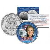 HILLARY CLINTON FOR PRESIDENT US 2016 Campaign JFK Kennedy Half Dollar Coin WHITE HOUSE