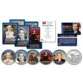 HILLARY CLINTON - 2016 Presidential Campaign 10 Piece * Life & Times * Ultimate U.S. Coin & Trading Card Collection