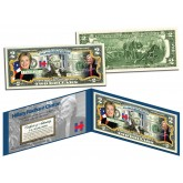 HILLARY RODHAM CLINTON Campaign 2016 President - Colorized $2 Bill U.S. Genuine Legal Tender
