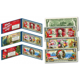 HOLIDAY SPECIAL Official Colorized Legal Tender U.S. $2 Bills  - CHRISTMAS / EASTER / VALENTINE'S DAY (SET OF ALL 3)