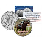 SPECTACULAR BID - 3 Time Eclipse Award Winner - Thoroughbred Racehorse Colorized JFK Half Dollar US Coin