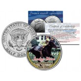 SUNDAY SILENCE - American Horse of the Year 1989 - Thoroughbred Racehorse Colorized JFK Half Dollar US Coin
