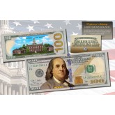 ONE HUNDRED DOLLAR $100 US Bill Genuine Legal Tender Currency COLORIZED 2-SIDED
