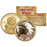 RED CLOUD - Famous Native Americans - Sacagawea Dollar Colorized US Coin - LAKOTA Indians