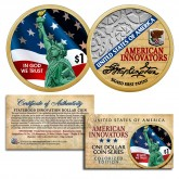 American Innovation Statehood $1 Dollar Coin - 2018 1st Release COLORIZED (2-Sided)