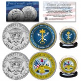 ARMY & USA INTELLIGENCE Branch JFK Half Dollar Armed Forces Military 2-Coin U.S. Set
