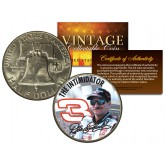 DALE EARNHARDT - THE INTIMIDATOR - Colorized 1951 Franklin Silver Half Dollar U.S. Coin - Officially Licensed