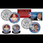 DONALD TRUMP 45th President & IVANKA TRUMP First Daughter Official U.S JFK Kennedy Half Dollar 2-Coin Set