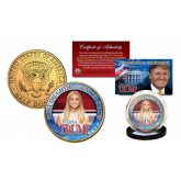 Ivanka Trump First Daughter of the USA 24K Gold Plated U.S. Kennedy Half Dollar Coin