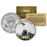 World War II - BATTLE OF IWO JIMA - JFK Kennedy Half Dollar U.S. Coin