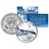 Japan All Nippon Airways R2-D2 Jet Plane STAR WARS - Colorized JFK Half Dollar U.S. Coin