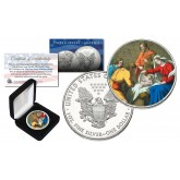 JESUS CHRIST BIRTH Genuine 1 oz. .999 SILVER U.S. AMERICAN EAGLE in Deluxe Display Box