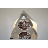 JESUS RESURRECTION US Silver Eagle 1 oz Colorize Coin Lucite Paperweight Pyramid