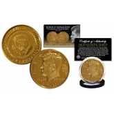 President JOHN F. KENNEDY 100th Birthday Celebration 1917-2017 Official 24K Gold Clad Tribute Coin