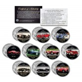 THE 10 MOST EXPENSIVE CARS SOLD AT AUCTION - Colorized JFK Kennedy Half Dollar U.S. 10-Coin Set