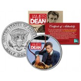 """JAMES DEAN """" Iconic Style """" JFK Kennedy Half Dollar US Coin - Officially Licensed"""