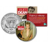 """JAMES DEAN """" Hollywood Icon """" JFK Kennedy Half Dollar US Coin - Officially Licensed"""