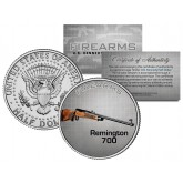 REMINGTON 700 Gun Firearm JFK Kennedy Half Dollar US Colorized Coin
