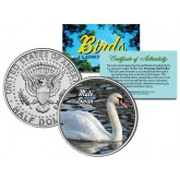 MUTE SWAN Collectible Birds JFK Kennedy Half Dollar Colorized U.S. Coin