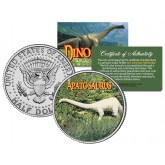 APATOSAURUS Collectible Dinosaur JFK Kennedy Half Dollar Colorized Coin BRONTOSAURUS