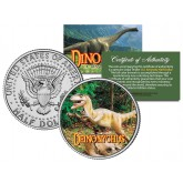 DEINONYCHUS Collectible Dinosaur JFK Kennedy Half Dollar U.S. Colorized Coin