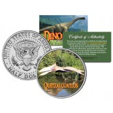 QUETZALCOATLUS Collectible Dinosaur JFK Kennedy Half Dollar Colorized Coin PTEROSAUR