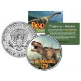 TYRANNOSAURUS T. REX Collectible Dinosaur JFK Kennedy Half Dollar US Colorized Coin