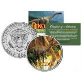 TROODON Collectible Dinosaur JFK Kennedy Half Dollar U.S. Colorized Coin