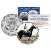 MAN O' WAR - Greatest Thoroughbred of All-Time - Thoroughbred Racehorse JFK Half Dollar Coin