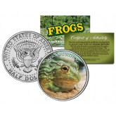 AFRICAN BULLFROG Collectible Frogs JFK Kennedy Half Dollar US Colorized Coin