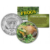 AMERICAN BULLFROG Collectible Frogs JFK Kennedy Half Dollar US Colorized Coin