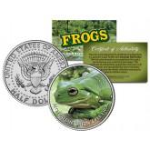 AUSTRALIAN GREEN TREE FROG Collectible Frogs JFK Kennedy Half Dollar US Coin