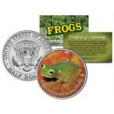 FLEISCHMANN'S GLASS FROG Collectible Frogs JFK Kennedy Half Dollar US Coin
