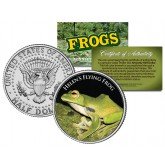 HELEN'S FLYING FROG Collectible Frogs JFK Kennedy Half Dollar US Colorized Coin