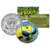 INDIAN BULLFROG Collectible Frogs JFK Kennedy Half Dollar US Colorized Coin