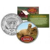ALPACA Collectible Farm Animals JFK Kennedy Half Dollar U.S. Colorized Coin