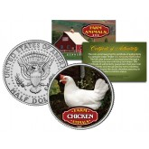 CHICKEN Collectible Farm Animals JFK Kennedy Half Dollar U.S. Colorized Coin