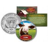 COW Collectible Farm Animals JFK Kennedy Half Dollar U.S. Colorized Coin