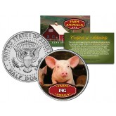 PIG Collectible Farm Animals JFK Kennedy Half Dollar U.S. Colorized Coin
