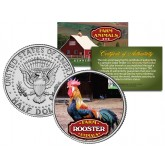 ROOSTER Collectible Farm Animals JFK Kennedy Half Dollar U.S. Colorized Coin