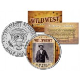 JOHN WESLEY HARDIN - Wild West Series - JFK Kennedy Half Dollar U.S. Colorized Coin