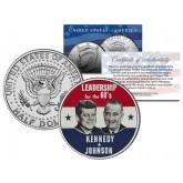JOHN F KENNEDY & LYNDON B JOHNSON - Presidential Campaign - JFK Half Dollar US Coin