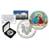 JESUS CHRIST LAST SUPPER Genuine 1 oz. PURE SILVER U.S. AMERICAN EAGLE in Deluxe Display Box
