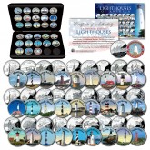 Historic American LIGHTHOUSES Colorized U.S. Statehood Quarters 28-Coin Complete Set with BOX