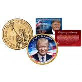DONALD J. TRUMP Official 45th President of the United States Colorized PRESIDENTIAL DOLLAR $1 U.S. Legal Tender Coin